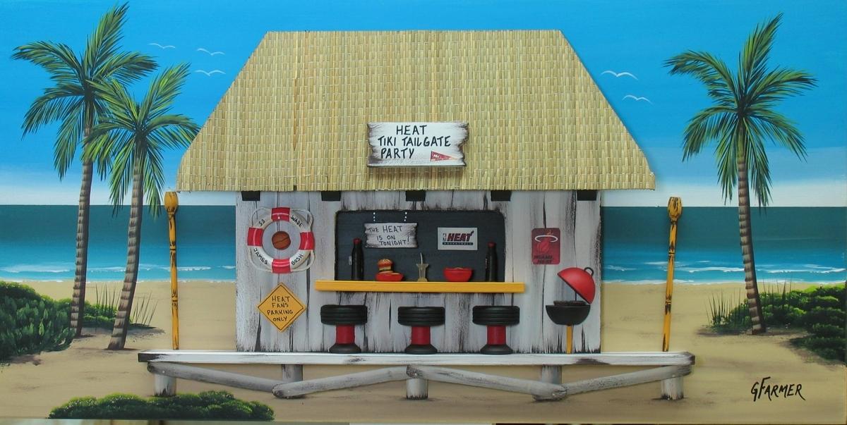 Miami Heat Tiki Tailgate Party (large view)