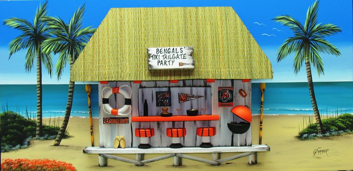 Cincinnati Bengals Tiki Tailgate Party (large view)