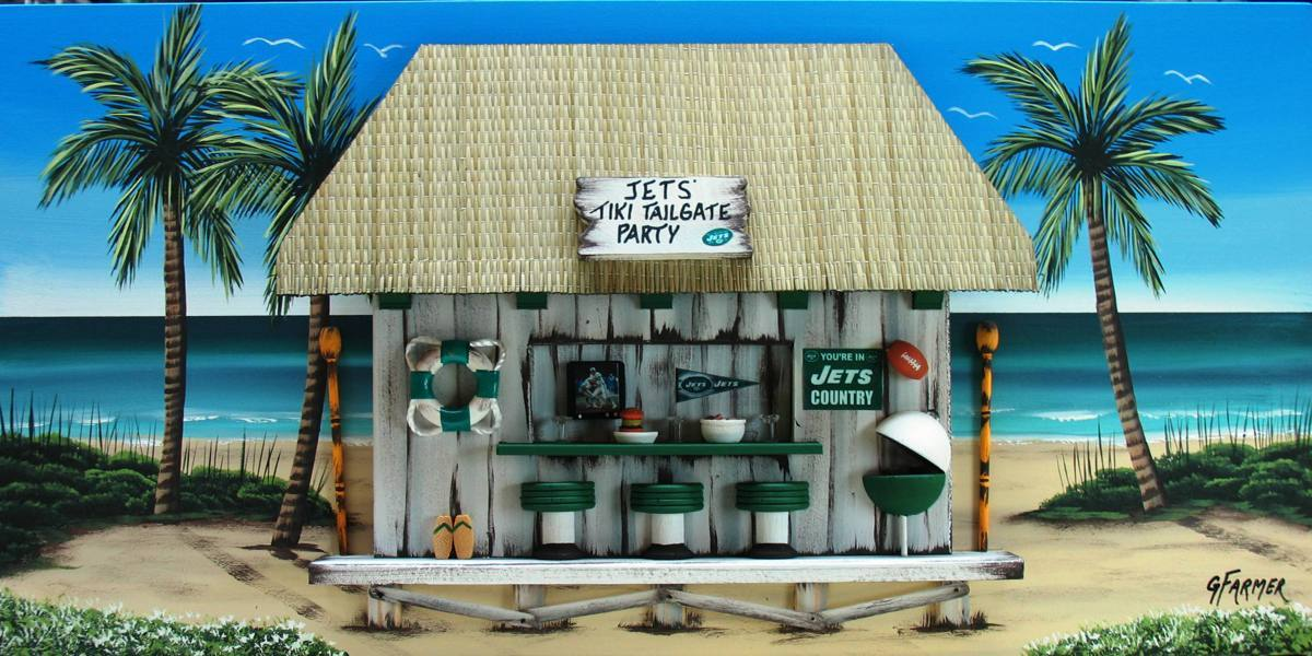 NY Jets Tailgate Tiki Bar (large view)