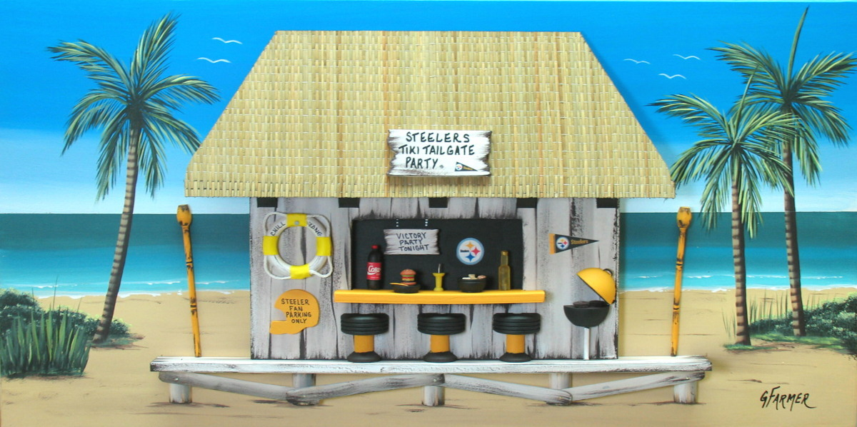 Pittsburgh Steelers Tailgate Party Tiki Bar (large view)