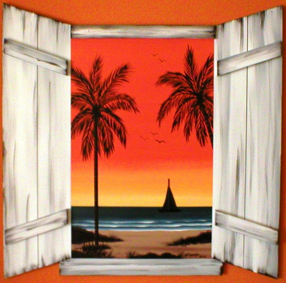 Faux window over looking your own beach. (large view)