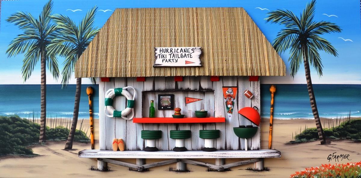 Miami Hurricanes Tiki Tailgate Party (large view)