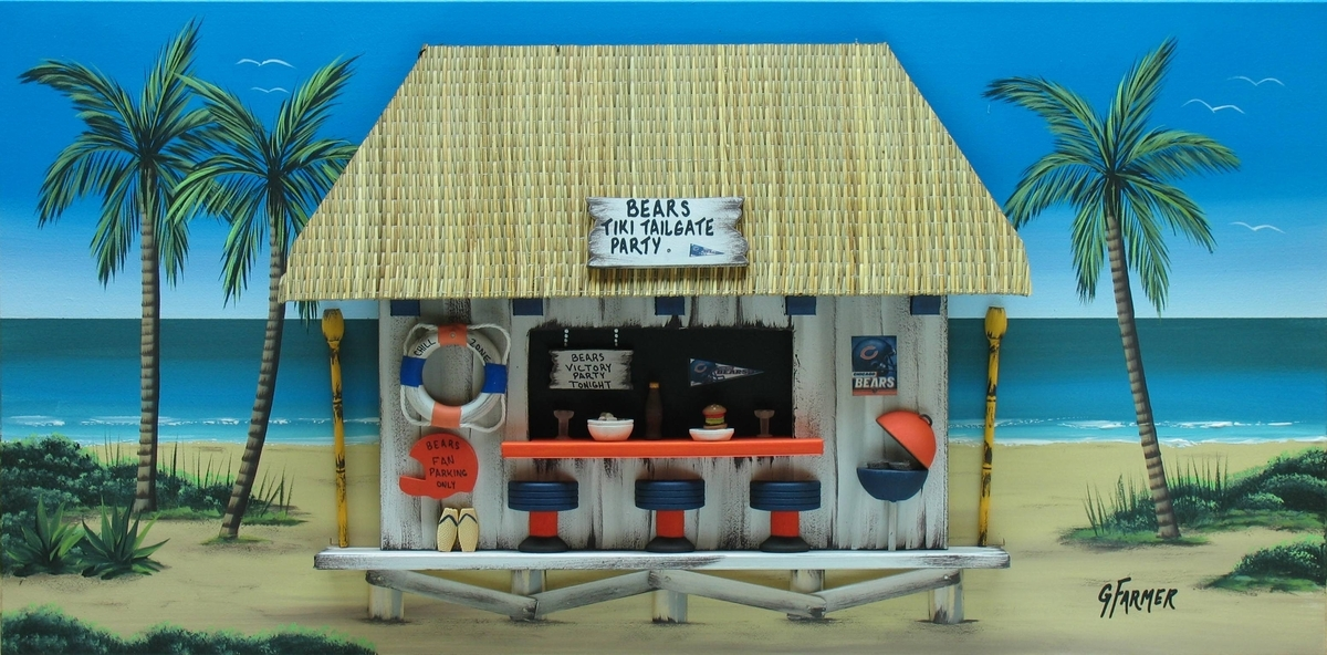 Chicago Bears Tiki Tailgate Party (large view)