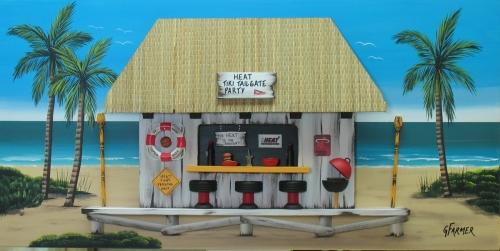 Miami Heat Tiki Tailgate Party