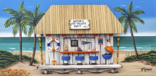 Florida Gators Tailgate party Tiki Bar