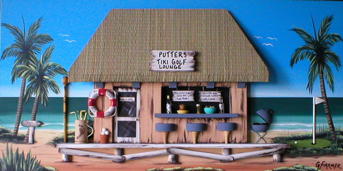 Putters Golf Tiki Bar