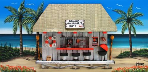 Cleveland Browns Tiki Tailgate Party
