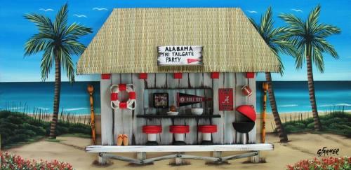 Alabama Crimson Tide Tiki Tailgate Party