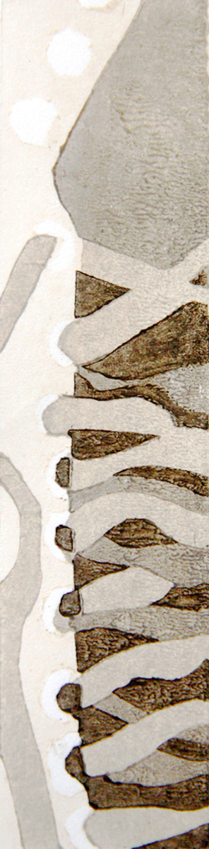 ice skates, Japanese woodblock print, moku hanga (large view)