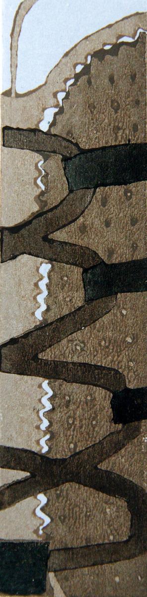 sneakers, Japanese woodblock print, moku hanga (large view)