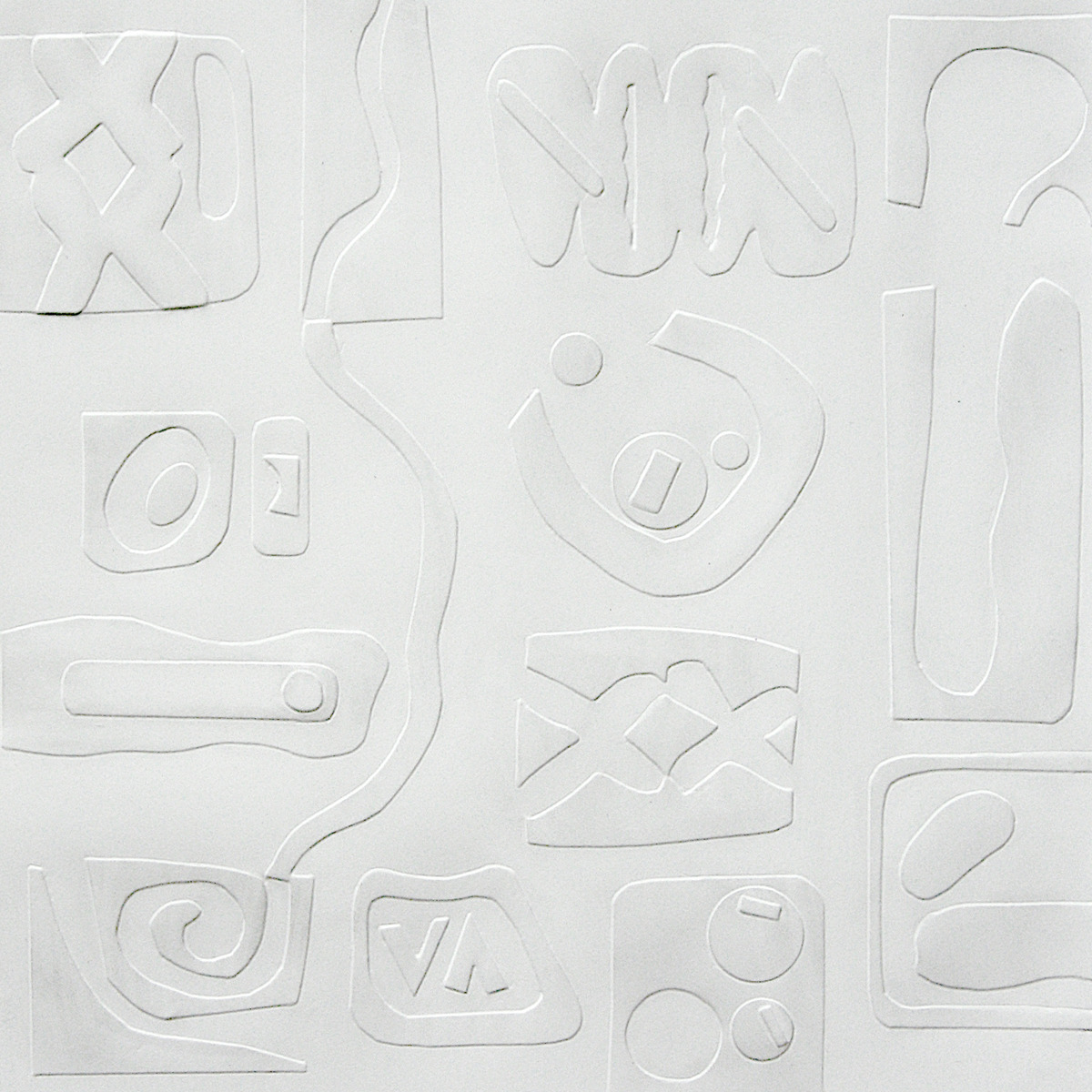 hand embossing, personal symbols, graphite (large view)