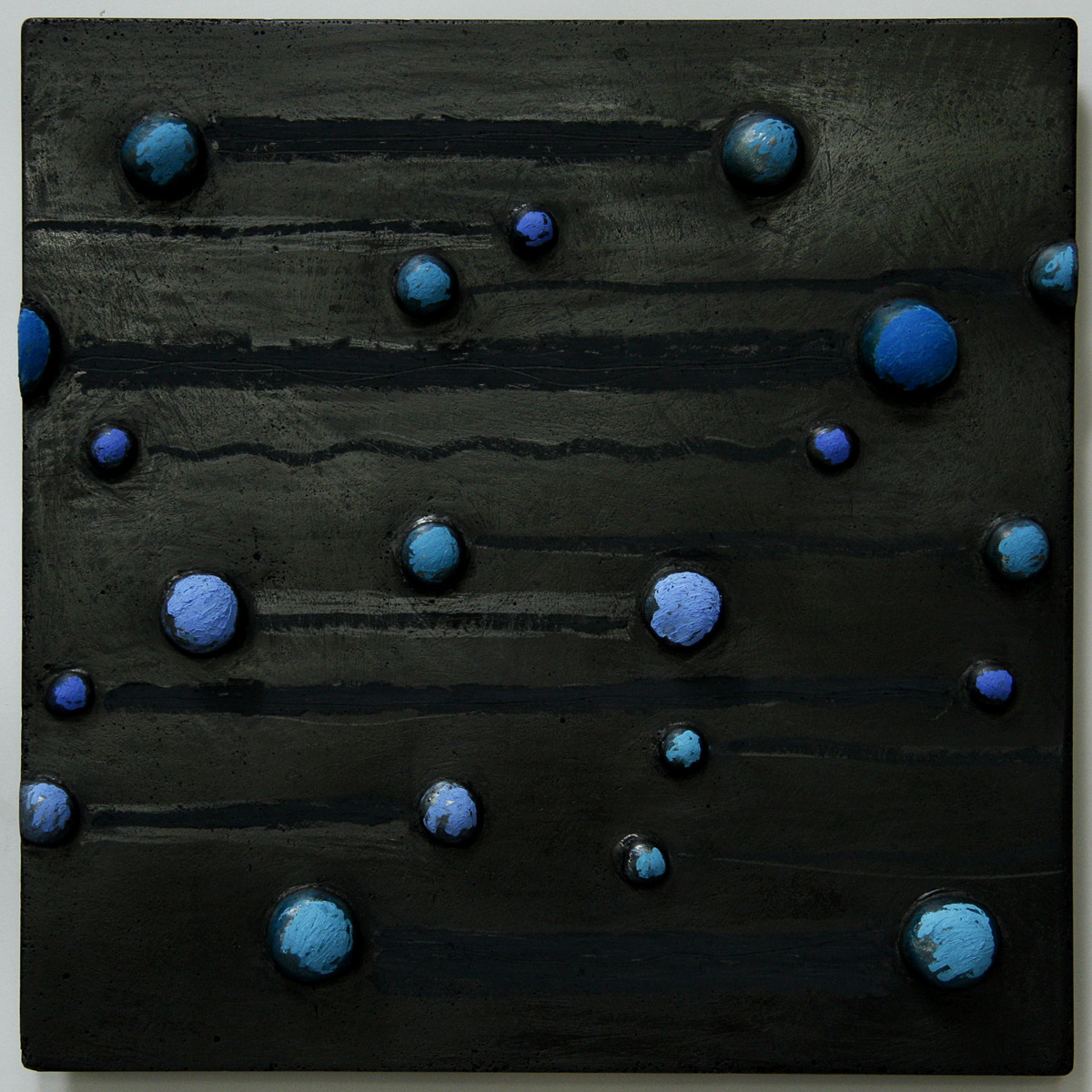abstract, black , blues, wall relief, concrete, cement (large view)