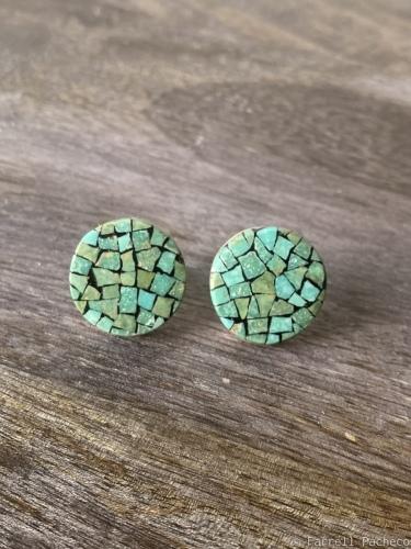 """3/4"""" Green Mosaic Posts"""