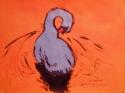 Painting--Acrylic-WildlifeBlue Swan