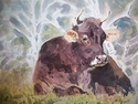 Painting--Watercolor-AnimalsWatching