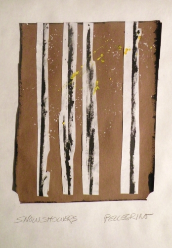 Mixed Media--On Paper-Non-representationalSnow Showers