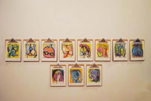 Clipboard Art Installation, St. Francis Gallery, South Lee, Ma.