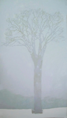 Painting--Acrylic-BotanicalLady of the Elm (winter)
