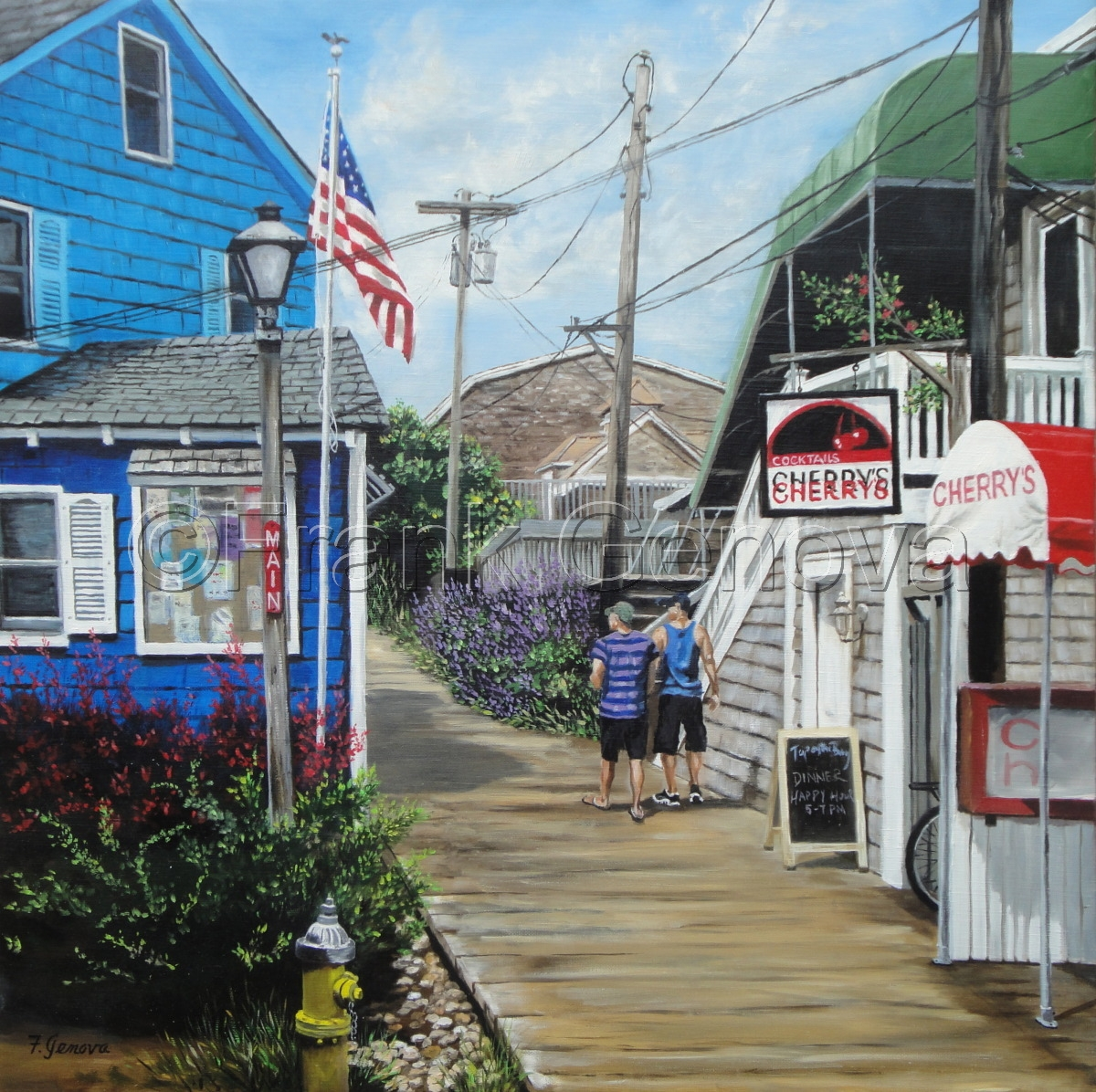 Cityscape Oil Paintings Cherry Grove By Frank Genova