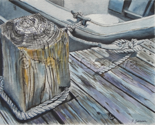 Fire Island Dock by Frank Genova