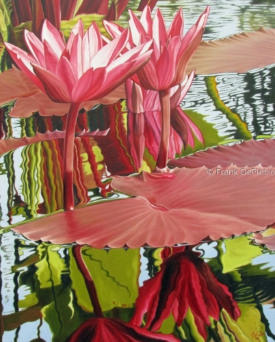 Water Lilies #34 Print by Frank DePietro