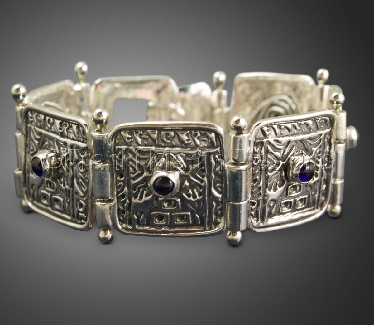 Bracelets precious metal clay jewelry sapphire bracelet for Martin metal designs