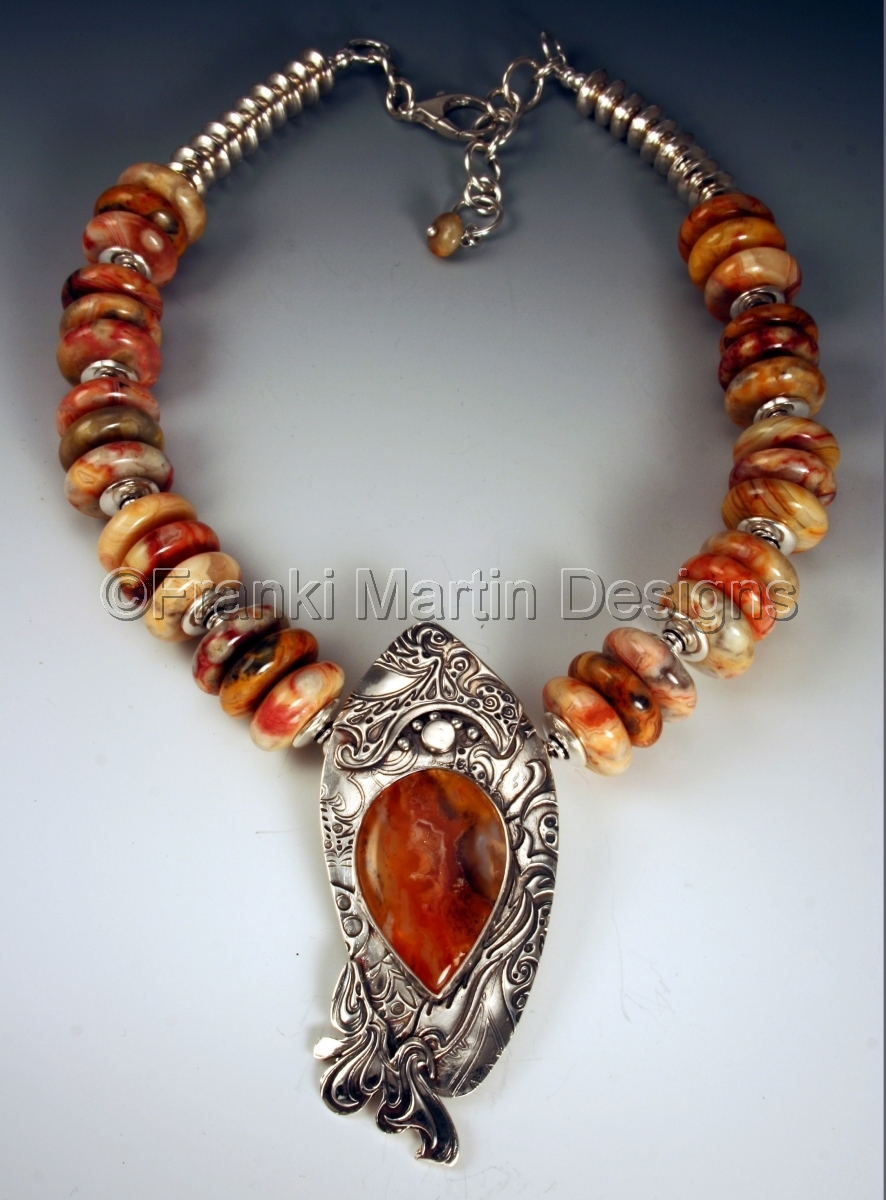 Necklaces precious metal clay jewelry it 39 s priday not for Martin metal designs