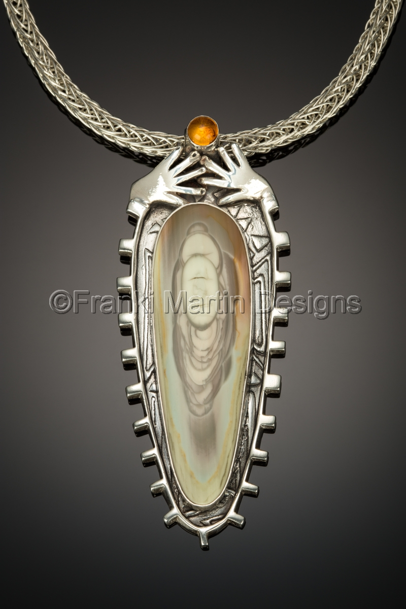 Pendants precious metal clay jewelry the monks by franki for Martin metal designs
