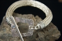 Large Viking Knit Bracelet with Fine Silver Clasp (thumbnail)