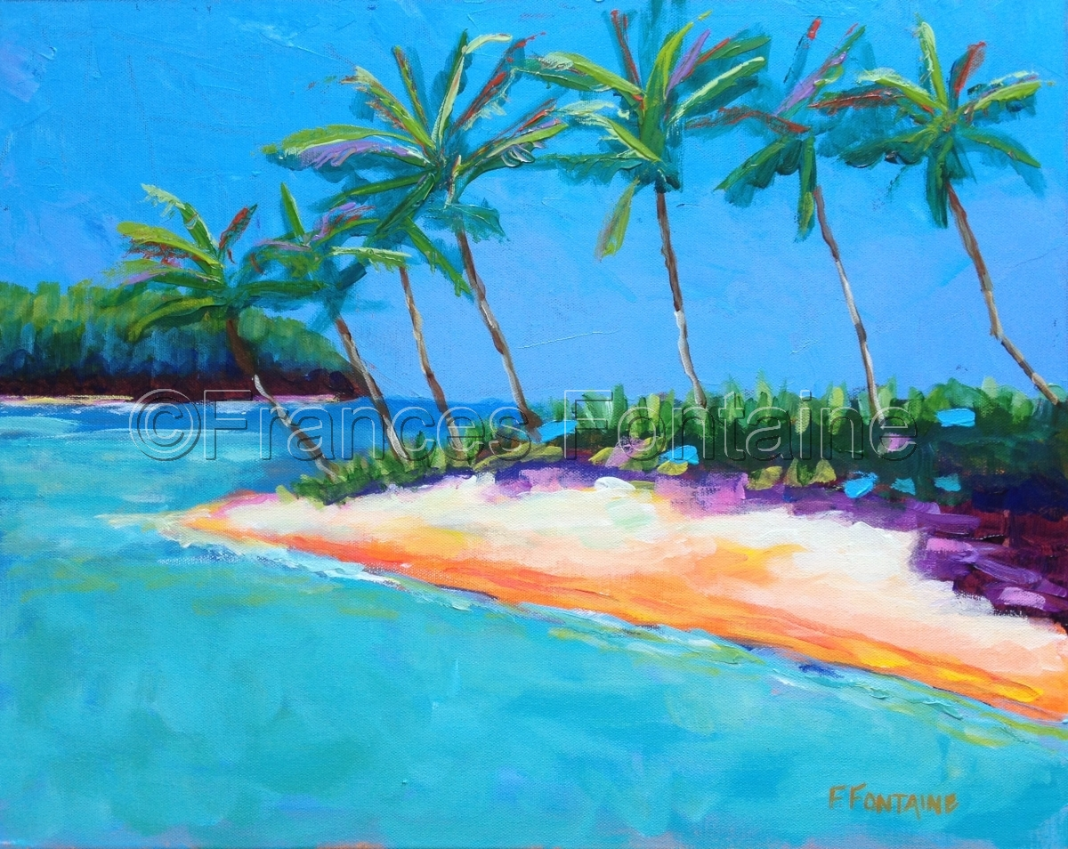 Frances Fontaine  Beach painting (large view)