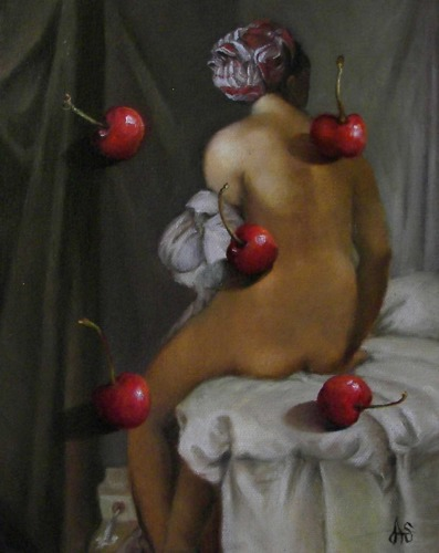 Ingres Painting with Bing Cherries