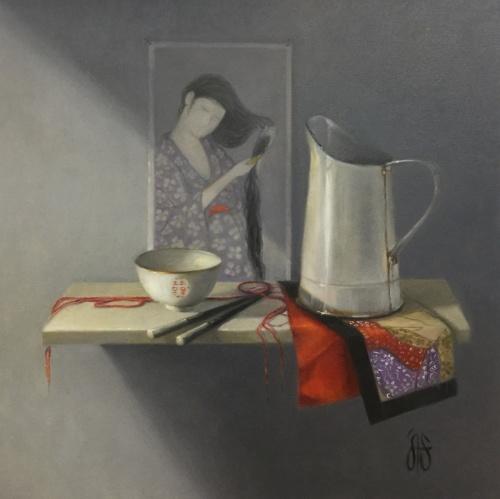 Arrangement on a Shelf 5