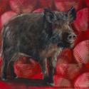 Arkansas Razorback painting (thumbnail)