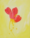 Red Tulips with Yellow Background (thumbnail)