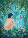 Girl in Garden (thumbnail)