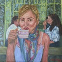 Self Portrait from Tea Room near Arch du Triomphe (thumbnail)