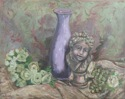 Cherub with Purple Vase and Flowers (thumbnail)