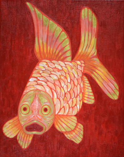 Goldfish on Red