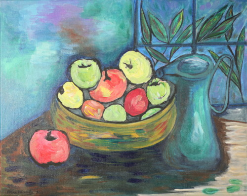 Still Life with Fruit and Pitcher