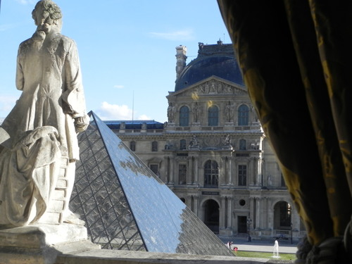 Overlooking the Louvre