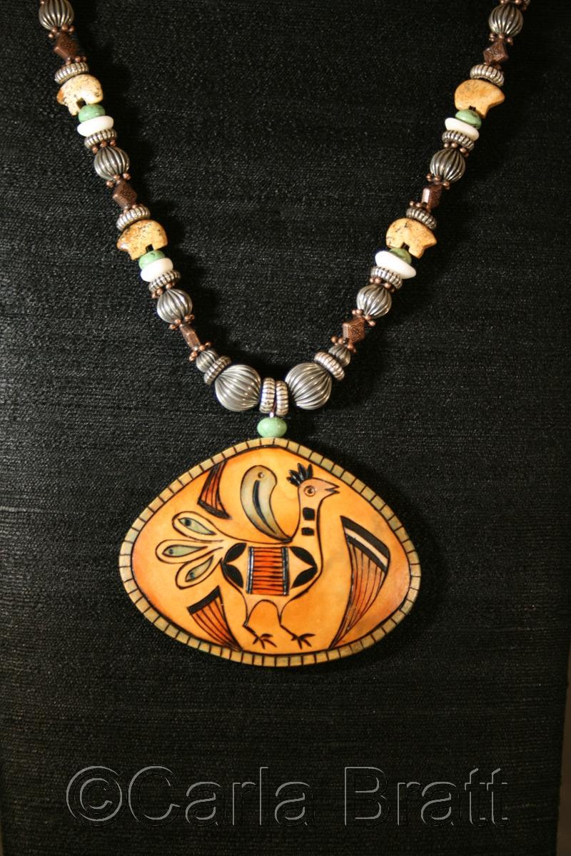 Zuni Bird Gourd Necklace (large view)