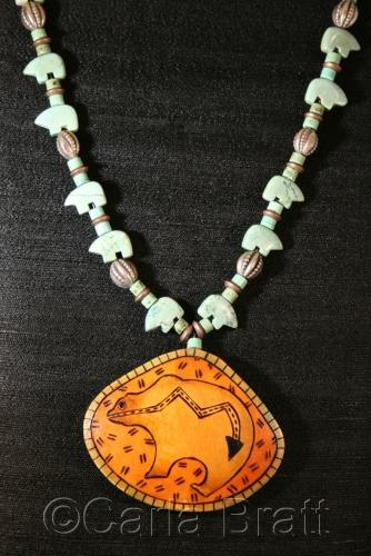 Bear Totem Necklace by Carla Bratt