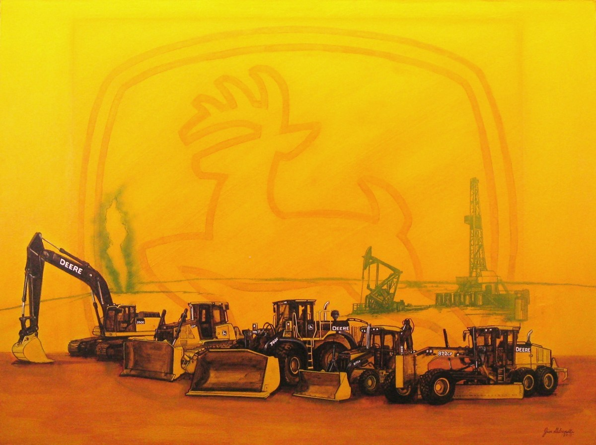 Girly John Deere Paintings : Painting quot john deere heavy equipment original art by