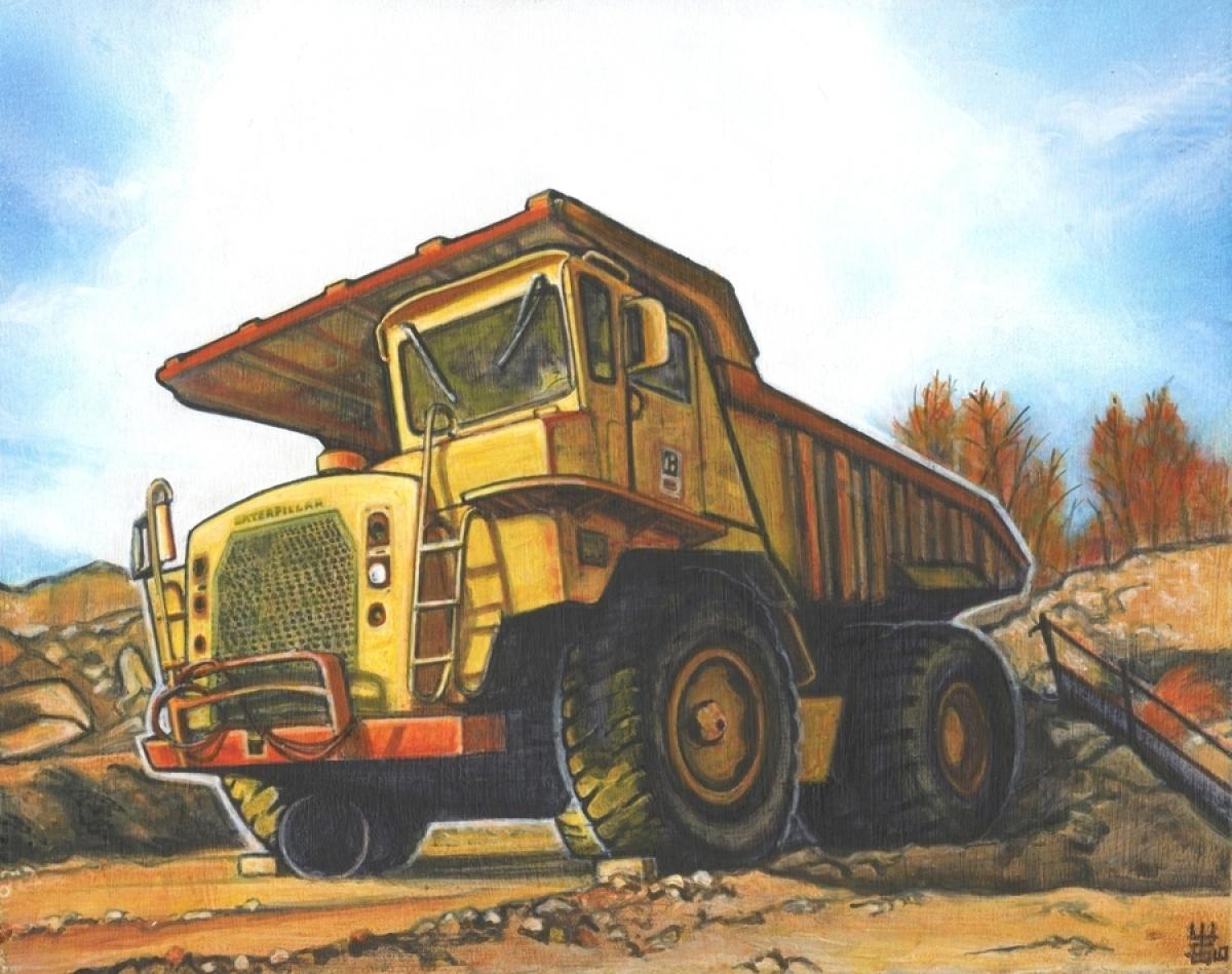 Heavy Equipment Painting : Painting quot heavy hauler original art by machineartbyjim
