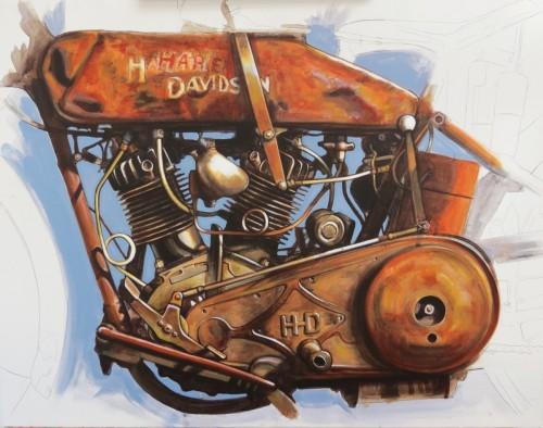 1924 Harley Davidson JD - Version 1 - 2015 by MACHINEARTBYJIM.COM