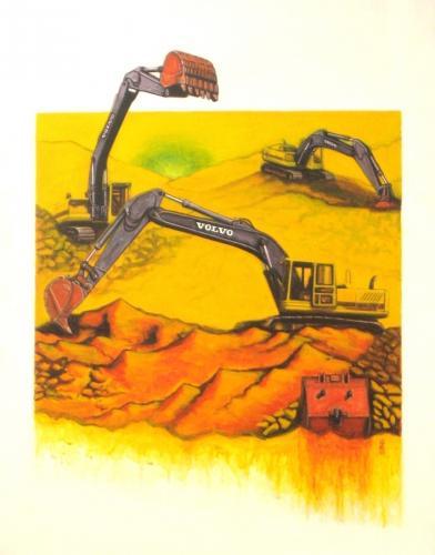 Volvo Excavators - Inspired By Daniel Schwartz