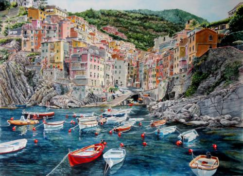 Riomaggiore Original Watercolor