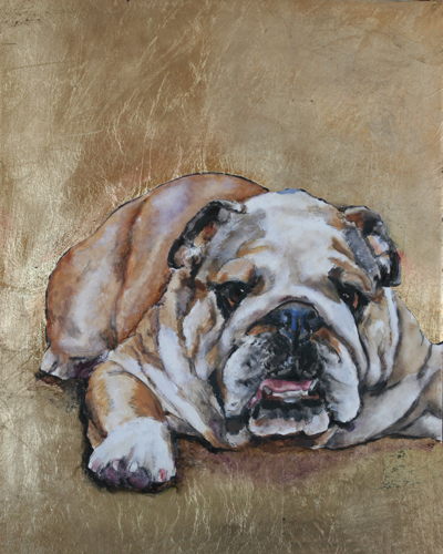 Bulldog 1 Original Oil Painting
