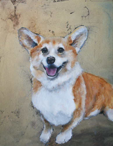 Welsh Corgi Original Oil Painting