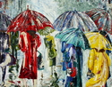 Painting--Acrylic-ExpressionistWalking In The Rain